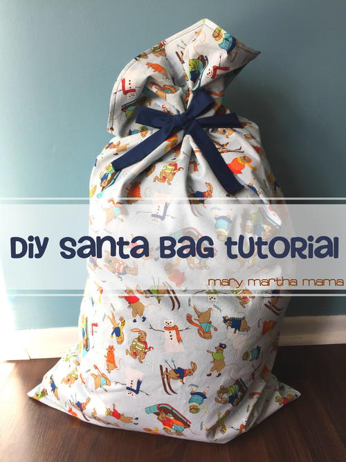 Easy DIY Santa Bag Tutorial