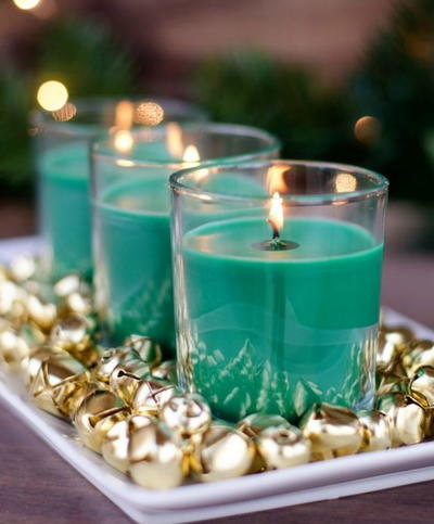 Jingle Bells Candle DIY Centerpiece
