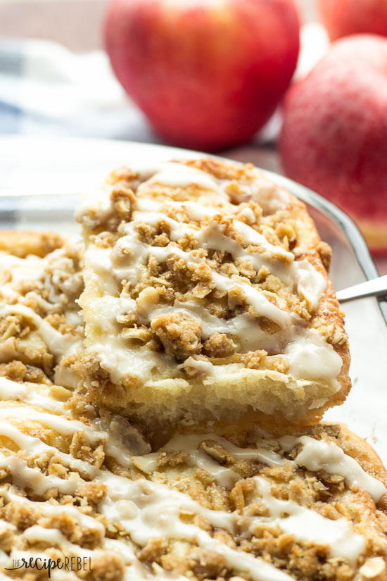 Apple Crisp Cinnamon Buns with Maple Glaze