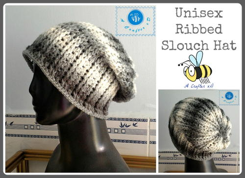 Unisex Ribbed Slouch Hat