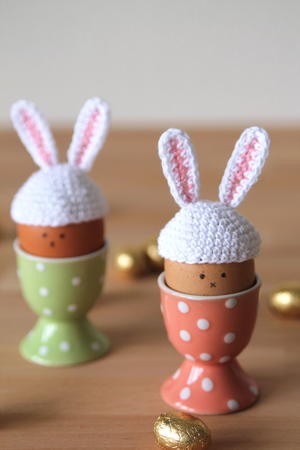 Easter Bunny Egg Crochet Hats