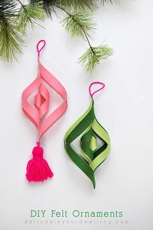 Diy Felt Spiral Ornaments Allfreeholidaycrafts Com