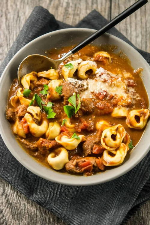 Hearty Tuscan Beef Soup
