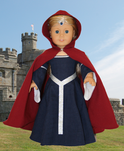 Medieval Doll Cape Free Sewing Pattern