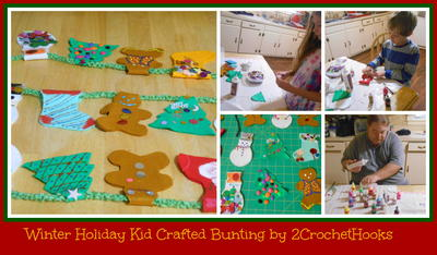 Kid Crafted Winter Holiday Bunting