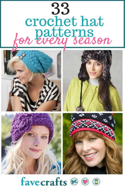 33 Crochet Hat Patterns For Every Season Favecrafts