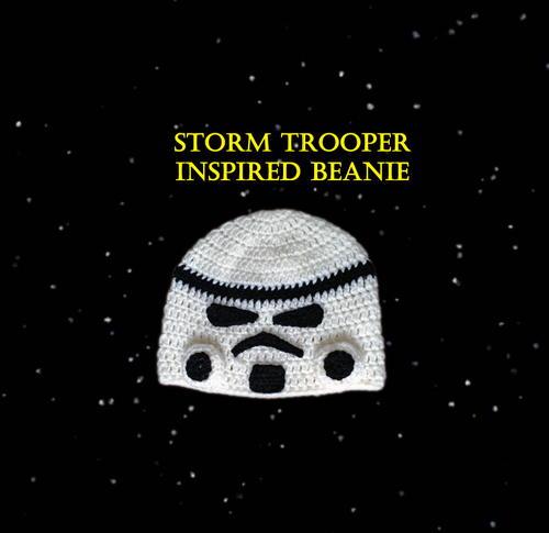 6347821cb13d07 Star Wars Storm Trooper Inspired Beanie   AllFreeCrochet.com