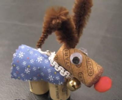 How to Make a Cork Reindeer Ornament