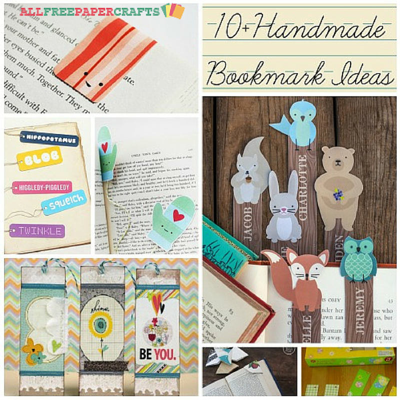 10 Handmade Bookmark Ideas AllFreePaperCraftscom