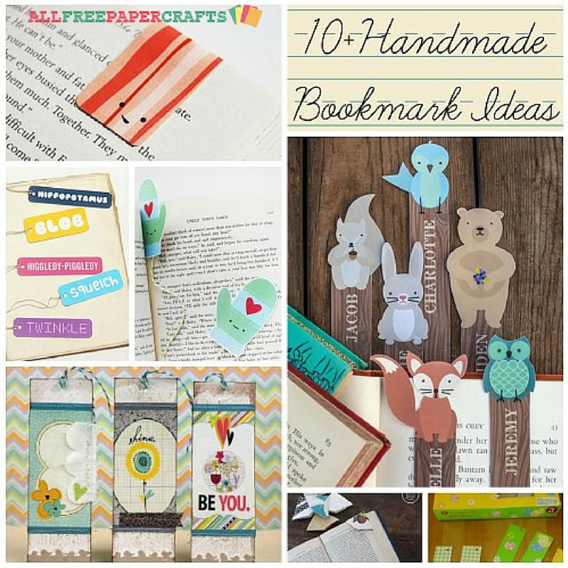 10 handmade bookmark ideas allfreepapercraftscom - Bookmark Design Ideas