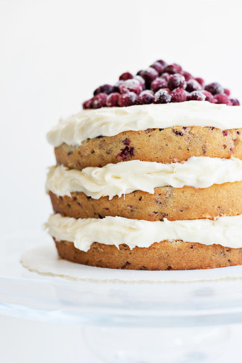 Cranberry Holiday Cake with Sugared Cranberries