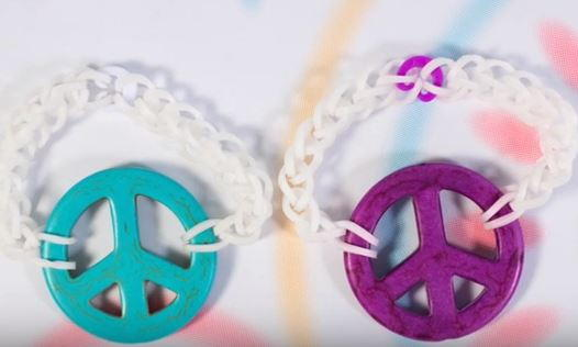 Peace Sign Rainbow Loom Bracelets