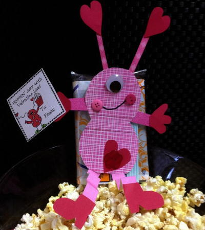 Love Monster Popcorn Valentines