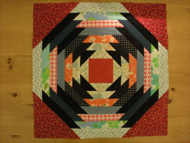 Grandma S Favorite Pineapple Quilt Block Favequilts Com