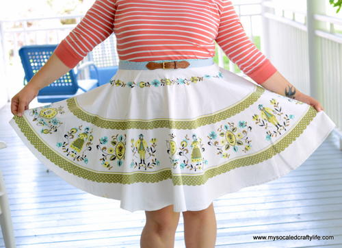 Vintage Tablecloth Skirt Pattern