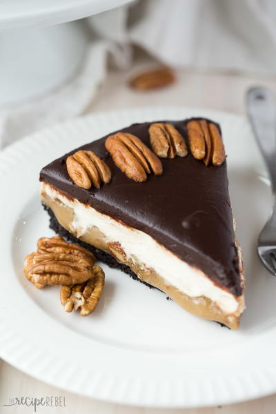 Almost No Bake Turtle Cheescake