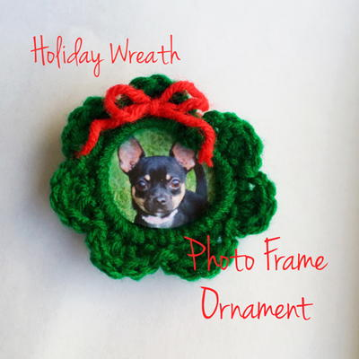 Crochet Holiday Wreath Frame