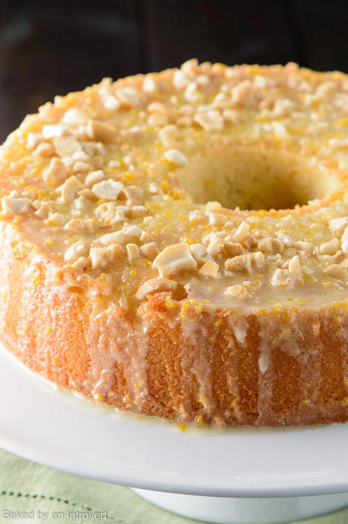 Orange Glazed Chiffon Cake