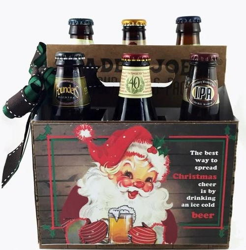 Happy Holidays Beer 6 Pack Design