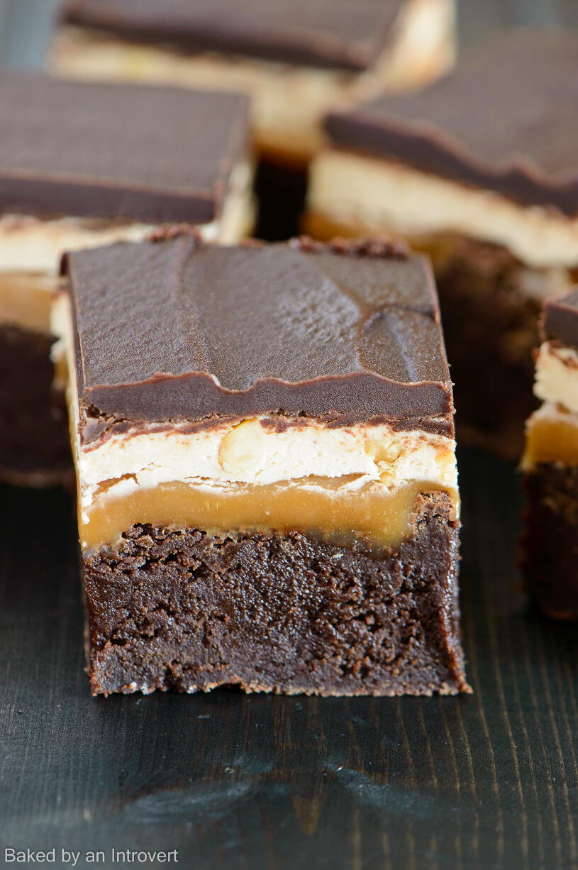 Sinful Snickers Brownies Recipelion Com
