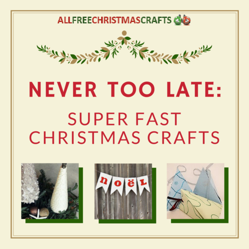 fast christmas crafts