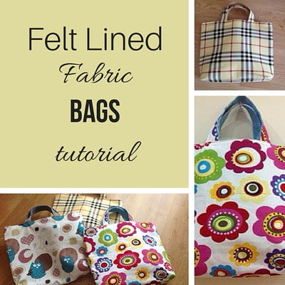 Felt Lined Fabric Bag