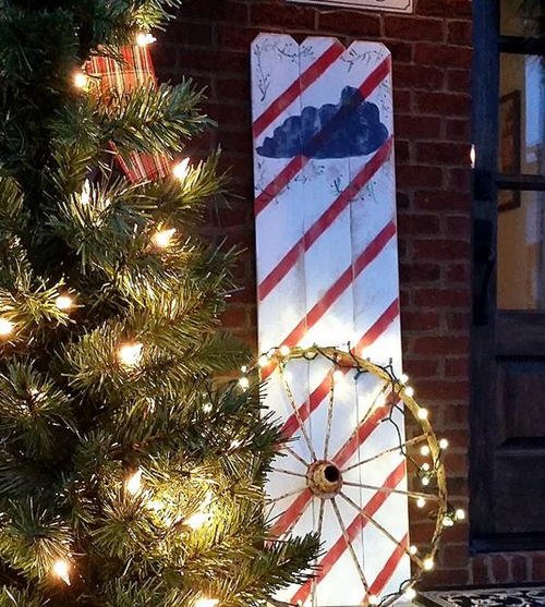 Rustic Candy Cane DIY Wood Sign