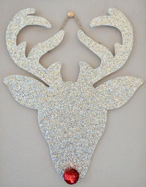 Glitter Rudolph DIY Wall Art