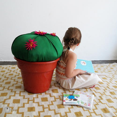DIY Cactus Stool Sewing Pattern