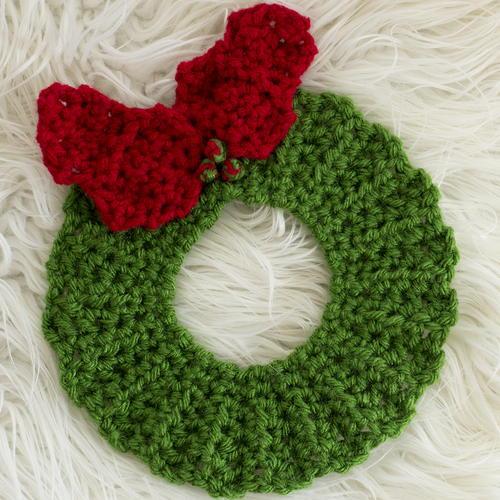 Christmas Wreath Hot Pad Pattern: