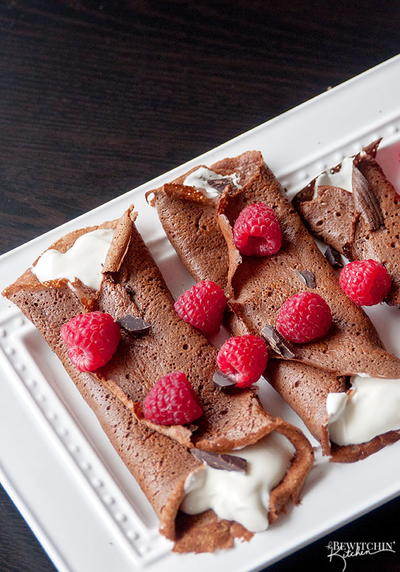 Healthy Chocolate Crepes