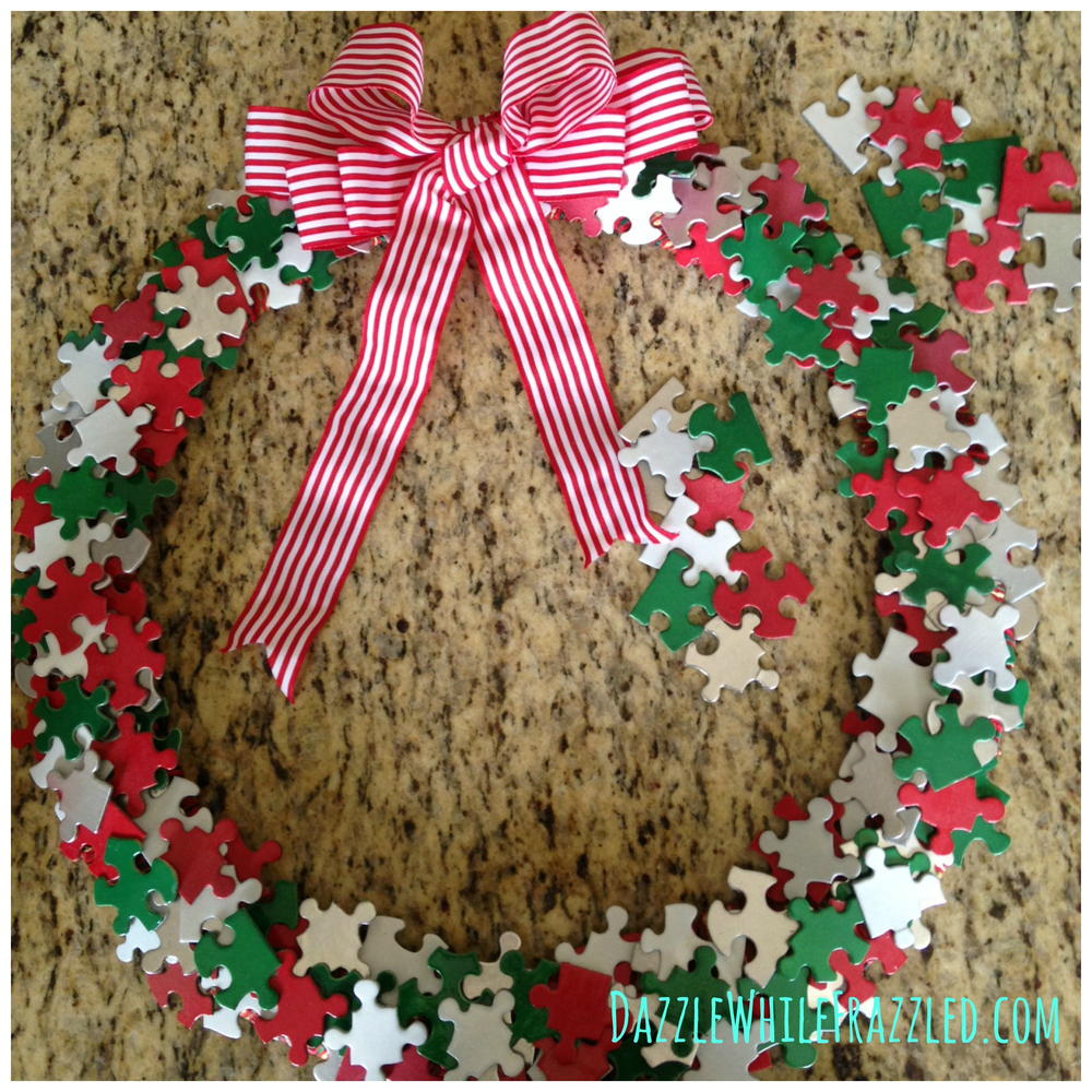Puzzle Piece Diy Wreath Favecrafts Com