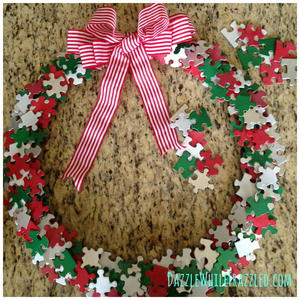 Puzzle Piece DIY Wreath