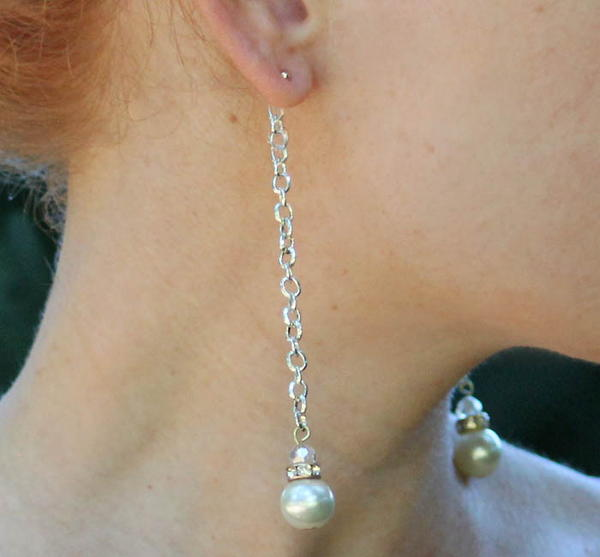 Beautiful Backdrop Pearl Earrings
