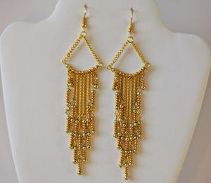 Gorgeous Golden Chandelier Earrings