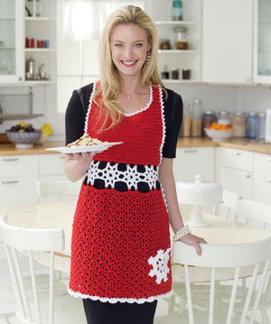 Snowflake Hostess Apron