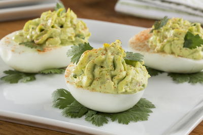 EDR Guacamole Deviled Eggs