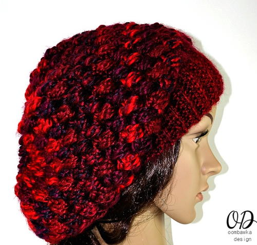 Pretty Cluster Stitch Slouch Hat_1