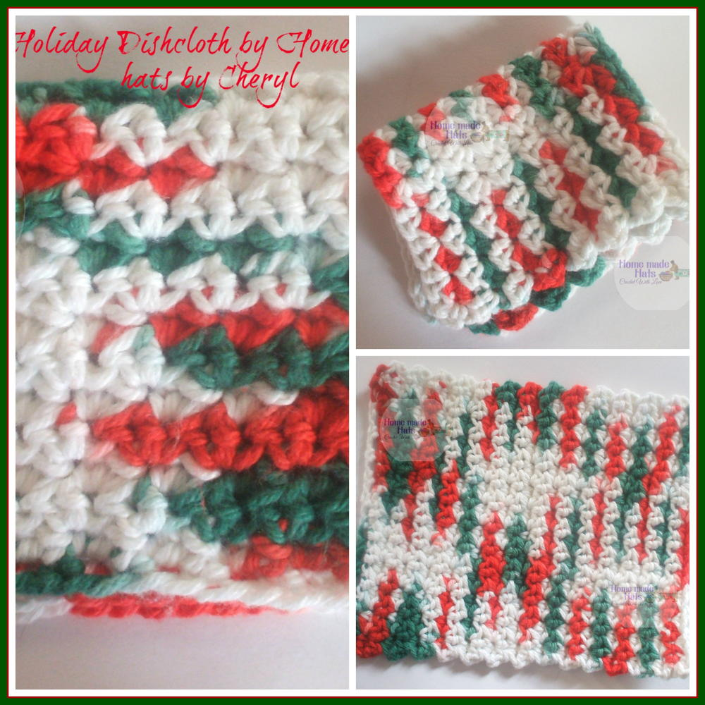 Easy Holiday Crochet Dishcloth Allfreecrochet Com