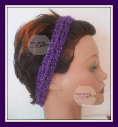 Easy Purple Holiday Headband