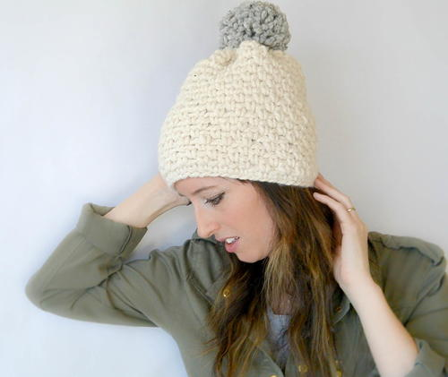 33ada3a6403b07 Big Pom Big Style Winter Hat | FaveCrafts.com