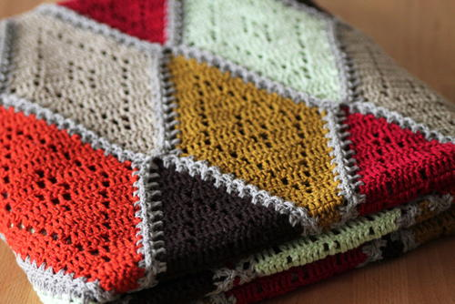 Spicy Diamond Crochet Afghan