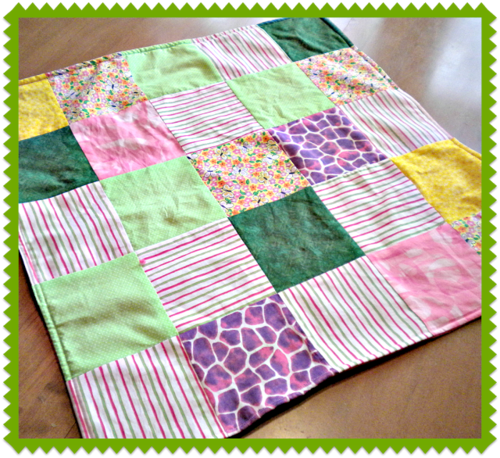 Patchwork Fleece Doll Blanket