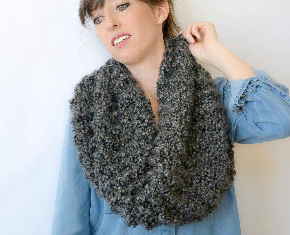 Eiffel Beginner Knit Cowl Pattern Favecrafts Com