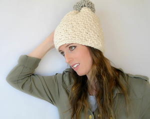 One Skein One Night Big Pom Hat