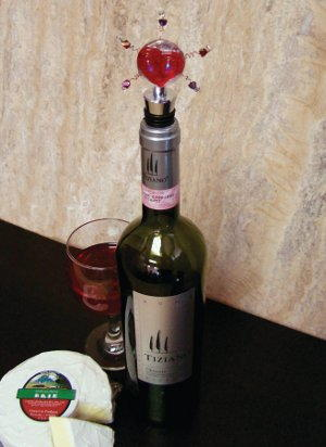 I Heart Wine Bottle Stopper