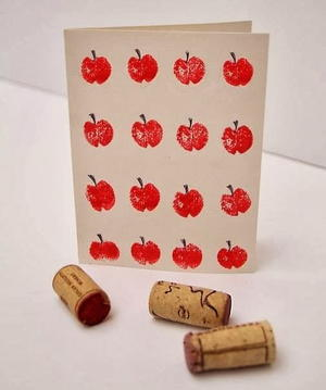 Wine Cork Apple Stamp