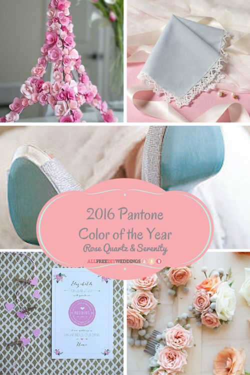 Pantone Color of the Year: Rose Quartz and Serenity Wedding Projects