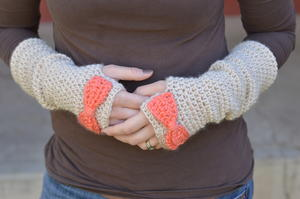 Dainty Bow Arm Warmers