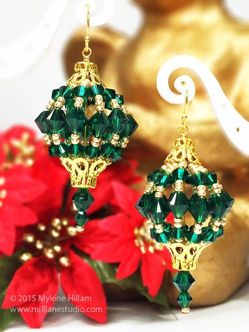 Emerald Bauble Earrings